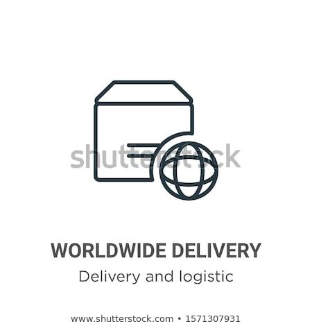 окна мира символ всемирный доставки вектора Сток-фото © robuart
