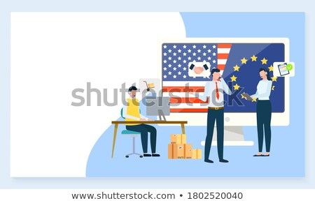 Sell in USA and Europe, Business Project Website Stock photo © robuart