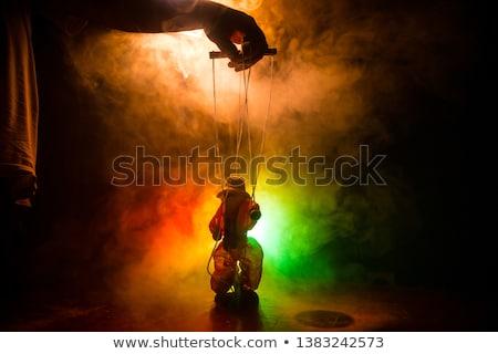 Persona marionetta string primo piano persone mano Foto d'archivio © AndreyPopov
