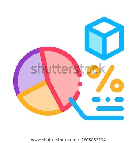 Pourcentage graphique icône vecteur Photo stock © pikepicture