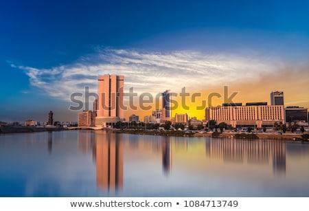 Suudi Arabistan ufuk çizgisi mavi gökyüzü yansımalar turizm Stok fotoğraf © ShustrikS