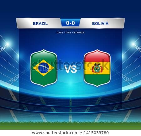 Bolivia vs Venezuela football match Stock photo © olira