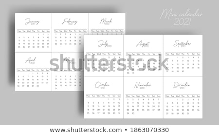 Simple black calendar icon with 6 january date isolated on white Stock photo © evgeny89