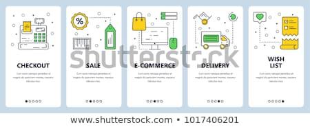 Ekereskedelem otthon vásárlás kellékek online technológia Stock fotó © barsrsind