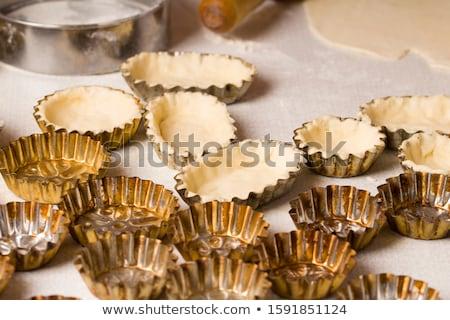 Ingredients for dough bottom for quiche, tart. Stock photo © Melnyk
