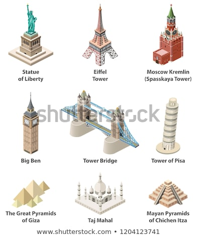 England United Kingdom Isometric Icons Set Vector Stock photo © pikepicture