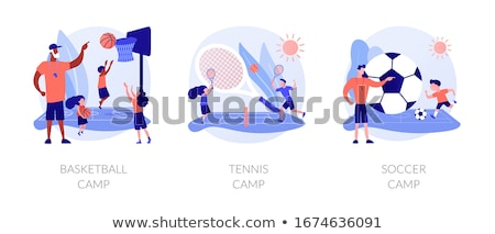Tennis kamp vector metafoor gast elite Stockfoto © RAStudio