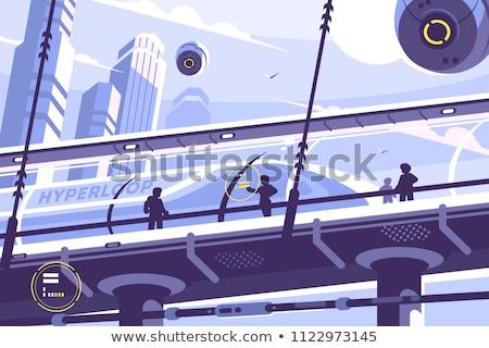 Przyszłości transport publiczny zawieszony tunelu pociągu ilustracja Zdjęcia stock © jossdiim