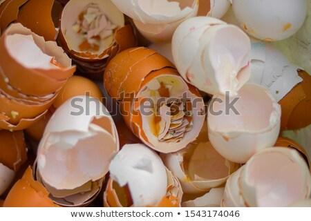 сломанной · куриные · пусто · коричневый · фон - Сток-фото © ansonstock