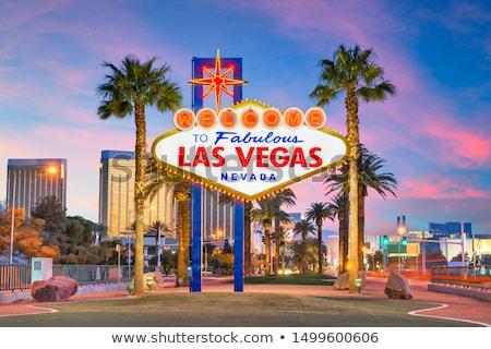 Las Vegas Nevada légifelvétel naplemente hegy autópálya Stock fotó © rabbit75_sto