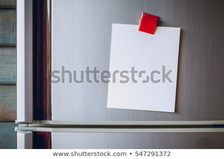 sticky notes on a refrigerator stock photo © akodisinghe
