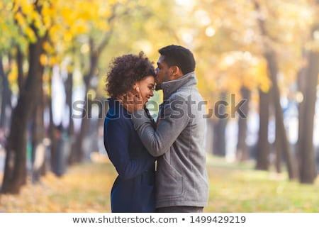 The husband embraces the wife in autumn park Stock photo © Paha_L