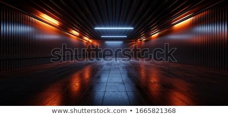3D oranje futuristische abstractie ontwerp licht Stockfoto © FransysMaslo
