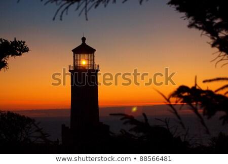 North Head Lighthouse on the Washington Coast at Sunset Stock photo © Frankljr