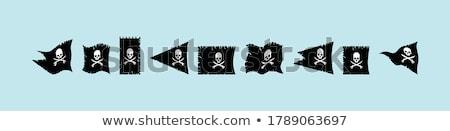 Zászló integet hajó piros zöld égbolt Stock fotó © elly_l