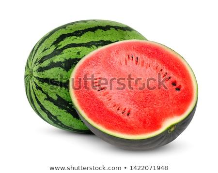 watermeloen · half · gesneden · rijp · zwarte - stockfoto © aladin66