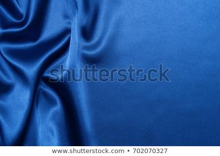 Blauw zijde textuur mode kunst weefsel Stockfoto © Raduntsev