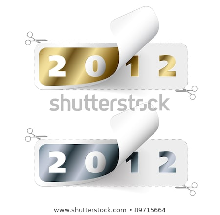 vector 2011 2012 new year stickers stock photo © orson