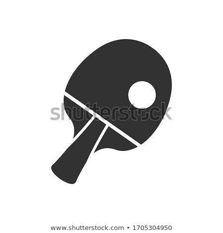 asztalitenisz · labda · tenisz · asztal · jókedv · fekete - stock fotó © joker