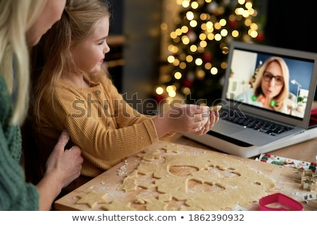 grandma and home helper with laptop stock photo © photography33