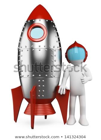 Foto stock: O · homem · 3d · míssil · 3D · corrida · homem · ilustração · 3d