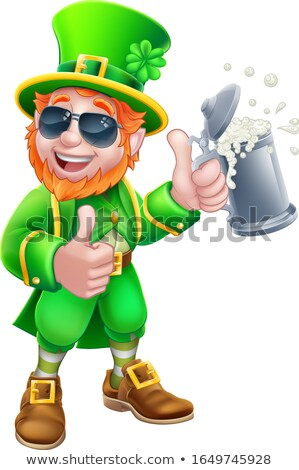 Leprechaun Drinking Beer Stock photo © indiwarm