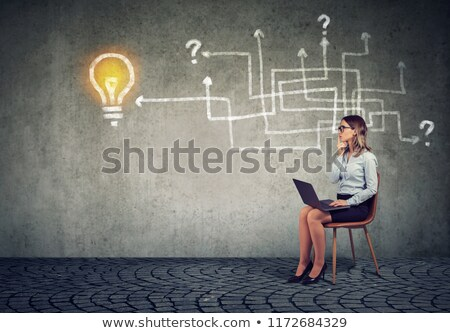 jungen · business · woman · Denken · Pläne · Gesicht - stock foto © photography33