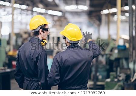 aprendiz · fábrica · negócio · madeira · construção · trabalhar - foto stock © photography33