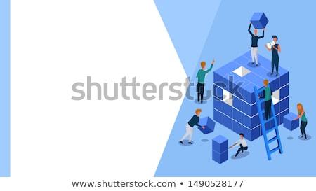 project cubes Stock photo © marinini