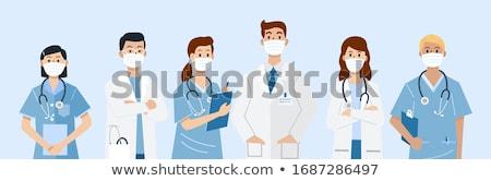 csoport · orvosi · orvosok · nővér · kórház · vektor - stock fotó © leonido