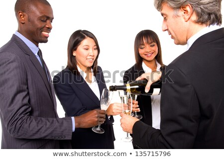 multi-ethnic team toasting Stock photo © ambro