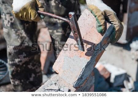törött · téglák · képek · designer · egység · állag - stock fotó © photography33