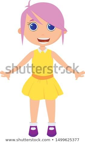 oranje · haren · meisje · Geel · jurk · klassiek - stockfoto © dolgachov