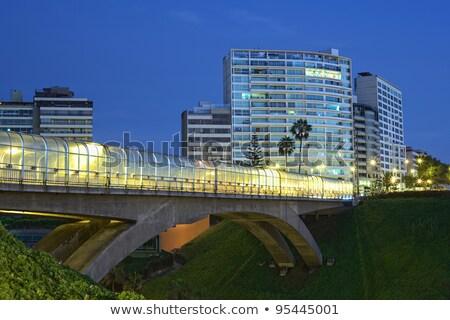 Yerleşim Bina lima Peru balkon ev Stok fotoğraf © ildi
