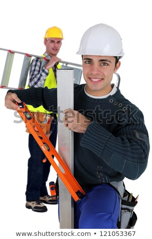 Two artisan workers arriving at work Stock photo © photography33