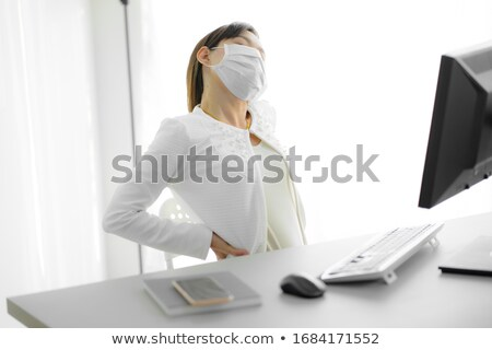 désespérée · assistant · bureau · visage · sticky · notes - photo stock © dolgachov