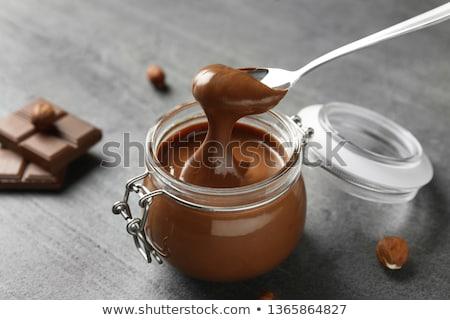 チョコレート クリーム jarファイル スプーン 食品 ガラス ストックフォト © elly_l