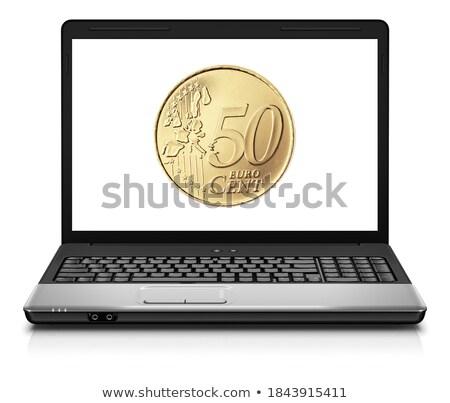 50 цент ноутбука бизнеса деньги безопасности Сток-фото © ozaiachin