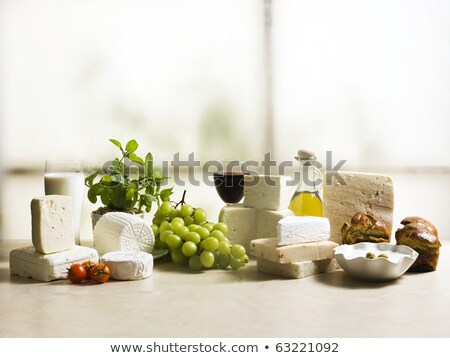 cheese dairy product and fig stock photo © m-studio