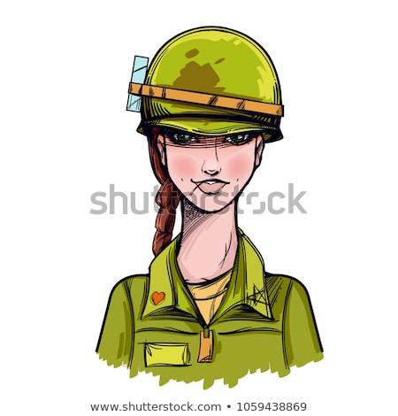 soldaten · man · pistool · soldaat · target · leger - stockfoto © broker