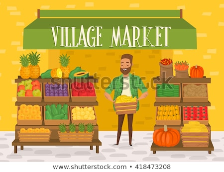 Stock photo: Fresh Organic Fruits and Vegetables At A Street Market