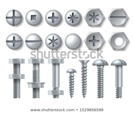 nozes · galvanizado · aço · industrial · piso - foto stock © sumners