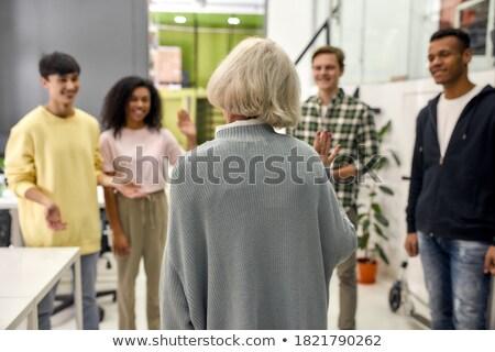 iş · kadın · iş · arkadaşı · odak · yalıtılmış · kadın - stok fotoğraf © get4net