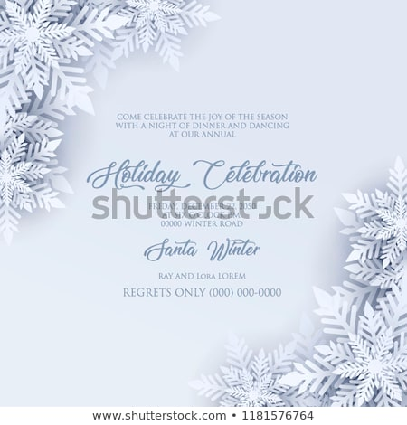 Natal quadro branco azul grande floco de neve Foto stock © OlgaDrozd