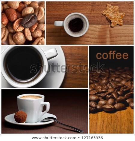 kávé · törik · fiatal · nő · iszik · vásárlás · online - stock fotó © stevanovicigor