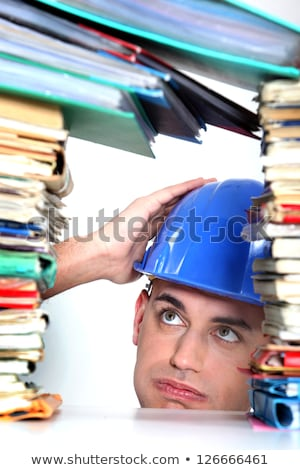 craftsman overwhelmed with paper work Stock photo © photography33