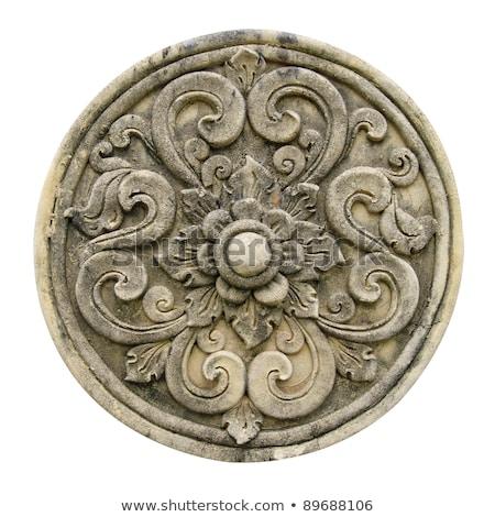 Kamień ulga religii symbolika alfa omega Zdjęcia stock © samsem