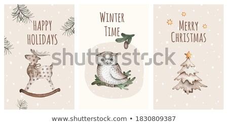 Noel · aile · hediyeler · noel · mutlu · aile · anne - stok fotoğraf © creative_stock
