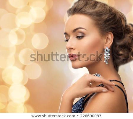 Kadın high fashion takı seksi kadın Stok fotoğraf © tobkatrina