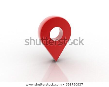 red navigation icon stock photo © asturianu